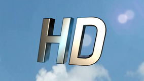 HD icon back clouds stock footage