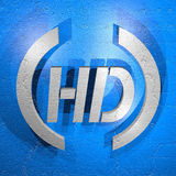 Hd icon Royalty Free Stock Photos
