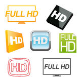 Hd icons set Stock Images