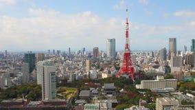HD - Ideia aérea da arquitetura da cidade tokyo vídeos de arquivo