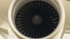 HD Jet engine of an airplane. stock video