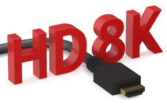 HD 8K concept. Isolated on white background Royalty Free Illustration