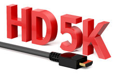 HD 5K concept Royalty Free Stock Photos