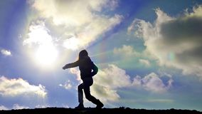 HD: Karate dziewczyny sylwetka - Akcyjny wideo zdjęcie wideo