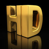 HD letters Stock Photo