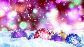 Υπόβαθρο HD Loopable με τις συμπαθητικές σφαίρες Χριστουγέννων διανυσματική απεικόνιση