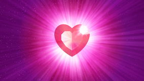 HD Loopable Background with nice abstract shining heart stock video footage