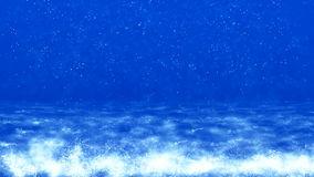HD Loopable Background with nice blue waves royalty free illustration
