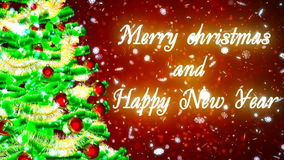 hd loopable background with nice christmas tree stock video footage - Nice Christmas Trees