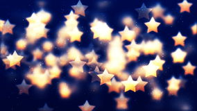 HD Loopable Background with nice flying golden stars. HD Loopable Abstract Background with nice flying golden stars for club visuals, LED installations royalty free illustration