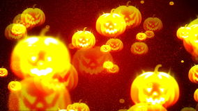 HD Loopable Background with nice halloween pumpkins stock footage