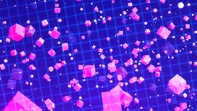 HD Loopable Background with nice matrix purple cubes stock video