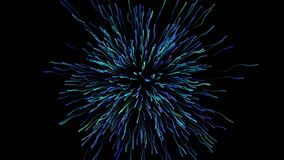 Motion graphic of exploding firework stock video footage