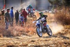 HD - Motocykl kopie up ślad pył na piaska śladzie podczas ral Obraz Royalty Free