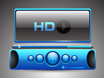 HD MP3 player. EPS 10 Stock Image