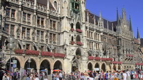 HD Munich Marienplatz banque de vidéos