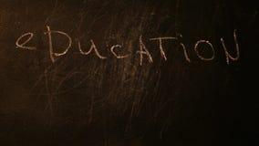 Hd negro del texto de la pizarra de la educación metrajes