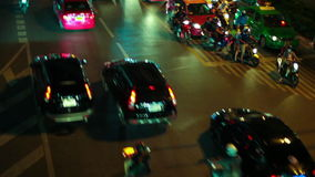 HD - Night lights streak as we travel down a city street stock video footage