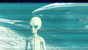 The noise of the TV and Glitch with an alien. HD The noise of the TV and Glitch with an alien stock footage