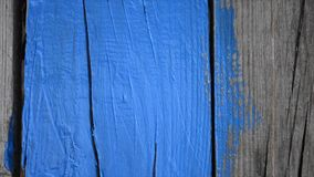 HD 1080 painted wooden surface with blue paint stock video footage
