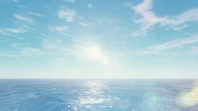 HD Piękny wschód słońca nad oceanem royalty ilustracja
