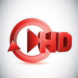Hd play button cycle illustration design Royalty Free Stock Photography