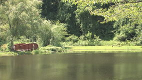 Hd pond and bridge stock video