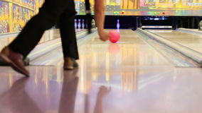 HD :  Professional bowling player hits last Pin stock video footage