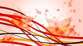 HD red waves. HD background with red waves and flowers Royalty Free Stock Images