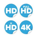 HD resolution ison label Stock Photography