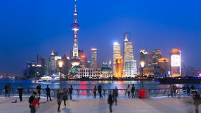 HD: Shanghai in China, Timelapse(Zoom In). stock video footage