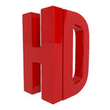 HD sign isolated on white Royalty Free Stock Photography