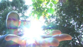 Hd - Sun in der Hand 02 stock footage