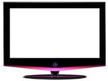 HD televisie. Geïsoleerd stock fotografie