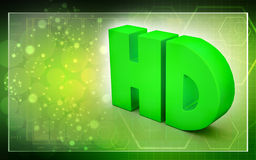 HD text Royalty Free Stock Image