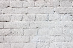 HD Texture of a brick wall. Sharpen texture of a white brick wall Stock Photography