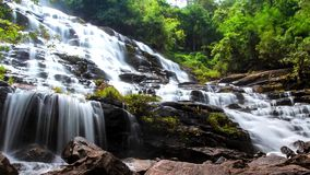 HD Time Lapse Maeya waterfall close zoom out stock video footage