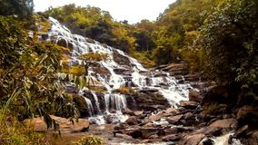 HD Time Lapse Maeya waterfall gopro zoom in Stock Photo