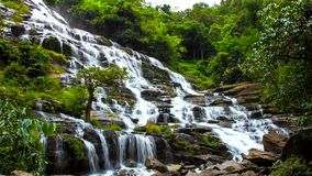 HD Time Lapse Maeya waterfall zoom in stock video