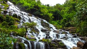 HD Time Lapse Maeya waterfall zoom out stock video