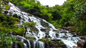 HD Time Lapse Maeya waterfall  zoom out stock video footage