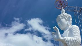 HD Time Lapse White Buddha image pan right stock video