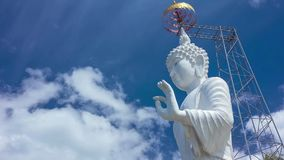 HD Time Lapse White Buddha image tilt up stock video