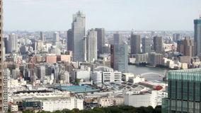 HD -tsukiji东京放大鸟瞰图  股票录像