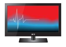 HD TV в сердцебиении Стоковая Фотография RF