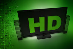 Hd tv monitor with speaker Stock Images
