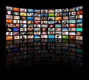 HD TV que muestra película Foto de archivo