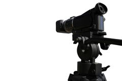 HD video camera on white background Stock Image