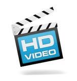Hd video clapperboard concept 3d illustration Stock Image