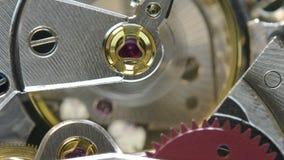HD video of clock internal mechanics stock video footage